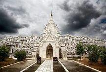 Hsinbyume Pagoda / Pictures of the White Hsinbyume Pagoda in Mingun, Burma