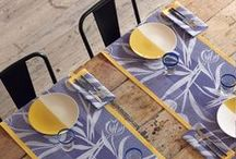 Coated Tablecloths 2 / Luxury French Made Provençal  Tablecloths, Coated for Easy Care