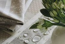 Coated Tablecloths / Luxury French tablecloths: easy to care for, perfectly suitable for the outdoors.