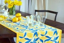 Printed Tablecloths / Beautiful French Tablecloths Shop online www.lavenderblue-la.com