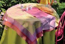 Garnier-Thiebaut Luxury Tablecloths / High-end beautiful French linens made by Garnier-Thiebaut