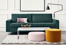 •✗• THE LOOK / A collection of interiors that render the Sunday Minx design aesthetic - refined simplicity, fresh bold colours and prints, forward thinking design and a playful sophistication that is unafraid to push the boundaries.