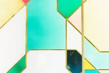 •✗• GEOMETRIC / We love obtuse angles, points and all things geometric. Enjoy our board of interior inspirations that introduce the contemporary and always interesting geometric pattern into homes in the most stylish of ways.