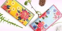 Mexican Beauty: Magnificent / Vegan/faux leather bags, wallets, pouches, coin purses, luggage tags, makeup pouches and cardholders feature Mexican textile inspired prints.  Wholesale www.mlavi.com  Shop Now www.mlavi.ca