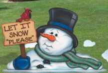 Let It Snow, Snowman / Snowman DIY, crafts, and Pictures / by Stephanie Eberhart