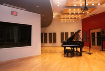Cuyahoga Community College - Center for Innovation in the Arts / Cleveland, Ohio: Cuyahoga approached WSDG to design and construct several acoustic environments within its central Cleveland campus. The facility included a variety of different spaces across four floors–some to be used for recording, others for performance, and others for editing. A large, centralized recording space with two isolation booths was located on the first floor. This was at the heart of the design, where students could work collectively on recording and mix projects.