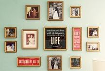 Best of wall galleries / frames on walls with a vintage twist