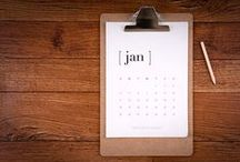 Calendars / Help keeping you on track with everyday. Made with love for your wall & desk. Custom design available www.vivianyeung.com
