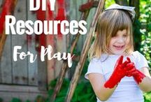 DIY Play Resources / Ideas and inspiration for creating and making your own resources and toys for play!