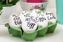 DIY- PASQUA / Un simpatico coniglietto segnaposto oppure delle uova colorate e decorate personalmente. C'è sempre poco tempo per realizzare tutto quello che si desidera, ma molte (e facili) sono le idee che vi proponiamo da realizzare.