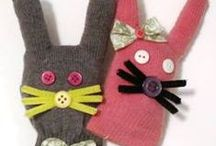 bunny puppets / bunny puppets to make and play with at Easter or any time of year