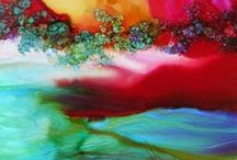 Alcohol ink / using alchohol inks in art