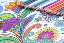 """ART THERAPY - COLOURING BOOK / """"I vari volumi della collana Art therapy, che approda ora in Italia per L'ippocampo, si sono venduti a centinaia di migliaia di copie, tanto in Gran Bretagna quanto in Francia, generando un vero fenomeno di libreria e di società. Occorre semplicemente completare le magnifiche illustrazioni dei libri, e usare la propria creatività per aumentare la capacità di concentrazione e migliorare l'umore. http://www.ippocampoedizioni.it/116-art-th #mandala #arttherapy"""