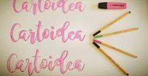 CALLIGRAPHY & LETTERING CREATIVO / Ispirazioni, Idee, tecniche e suggerimenti per trasformare le tue scritte in bellissime opere d'arte. Imparate a disegnare e comporre lettering a mano. Cartoidea vi aiuta a scoprire come sviluppare il proprio stile personale