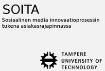 """Soita / """"SOITA – Sosiaalinen media innovaatioprosessin tukena asiakasrajapinnassa """" – hanke tutkii ja pilotoi sosiaalisen median mahdollisuuksia innovaatioprosessin asiakasrajapinnassa b-to-b kontekstissa. Tarkoituksena on parantaa suomalaisten suurten ja pk-yritysten käyttäjälähtöisyyttä ja kykyä hyödyntää avoimen innovaation toimintatapoja. Hanketta toteutetaan Tampereen teknillisen yliopiston / NOVI-tutkimuskeskuksen , Åbo Akademin / MediaCityn johdolla, yhteistyössä yritysten Beckhoff Automation Oy,"""
