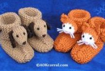 Slippers to knit / knitting patterns and tutorials