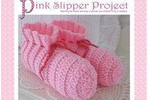 Official Pink Slipper Project patterns / Original patterns designed for The Pink Slipper Project, for slippers and other items. Patterns are for personal or charity use only, please respect copyrights.