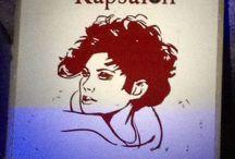 Hair salon signage / Wacky clip art decals adorning hair salons in Rotterdam