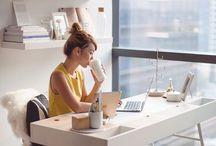 • Decoração • Office • / Inspiração para decorar meu grande sonho como empreendedora.
