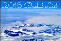2016 Bucket List / All the fab places I'd love to visit in 2016 around the world ;)