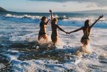 S U M M E R ' S got me like...... / swim suits, sunglasses, sand sea coconut oil and beaching