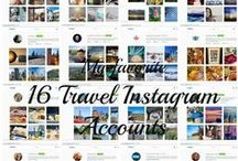 Fab travel instagram accounts / Need some travel inspiration? Check out these 16 talented, fun, friendly travelers and photographers who go on adventures locally and globally!