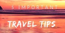 5 Important Travel Tips / Whether you are a first time or seasoned traveler, there are some things that we should all know.  Come see what tips I offer to a young reader and future world traveler :)