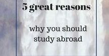 5 reasons why you should study abroad / Studying abroad offers many benefits. Come check out the 5 reasons why anyone should at least once in their life!
