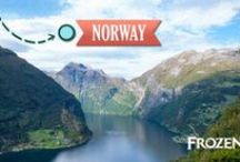 Visit Norway / Experience all the beauty and majesty our tour of Norway has to offer as you explore the quaint villages and stunning landscapes that served as the inspiration for the animated comedic-adventure, Disney's Frozen. You and your family will follow in the filmmaker's footsteps as you hike, raft and traverse the awe-inspiring terrain.