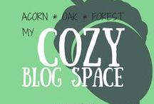 Acorn * Oak * Forest - My Cozy Blog Space / Welcome! If my blog were a place, it would look like this... a house with cozy, warm, casual spaces to share ideas as well as quiet nooks where anyone could sit and dream alone. The indoors feels inextricably linked to the natural world just beyond the walls.  (And of course, all surfaces would be self-cleaning so we could just go about living our dreams, rather than cleaning up after them.)