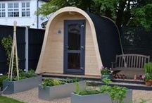 ManCaves, Camping Pods and curved Shelters! / Bring your garden to life and have a retreat where you can truly escape with our range of ManCaves and Camping Pods. Small enough to tuck into the corner of your garden, but large enough to fit all your home comforts, the ManCaves are ideal for gardens of all shapes and sizes.