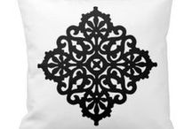 Decor Cushion/Throw pillows / Beautiful, elegant cushions with ornaments, illustrations and geometric designs!