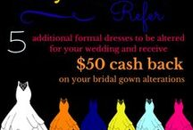 """Specials / Every month, Rapids Alterations offers a new discount as a  """"thanks"""" to our customers!  Please check our Facebook and Pinterest boards to stay up-to-date on our latest deals!"""