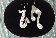 "Handmade earings ""Couples"" / Aluminum, handmade earings, innovative style"