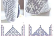 Slippers & Socks / Diy- knitting and crochet