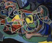 Indian Space Paintings / Paintings by Steve Wheeler, Peter Busa, Howard Daum, Will Barnet, Gertrude Barrer, Robert Barrell.