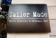 "Tailor Made / This relatively new ""hand-made"" casual bar roasts its own coffees, offers unique tea blends and serves tailor-made cocktails in front of you depending on your mood. Its decor is one of a kind: speakers bring sound out of old radios, customers may sit in fluffy rug seats while Ernst Chiller's face will keep an eye on you hanged on the wall in front of you – the neo-classical building is his creation anyway! http://www.urbanhypsteria.com/tailor-made/"