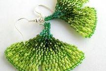 Beaded earrings - Flora