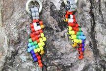 Beaded earrings - Birds