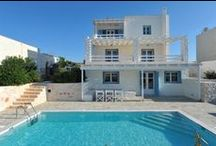 Paros, Cyclades, The Grand Villa Adrasteia for Sale, www.seasideland.fr / A Luxurious Stonemade Cycladic Villa built in Filizi-Santa Maria Bay just a walking distance from the sandy beach.
