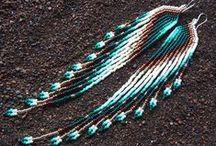 Beaded earrings - Long/brush