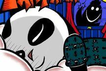 In the Beginning: The Story of Shark and Panda / Book by Matt Chalik