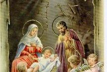NATAL / NASCIMENTO DE JESUS. Dedico este painel à Nosso Senhor Jesus Cristo que veio ao mundo para nos ensinar e salvar, e muitas vezes sua cena é roubada pelo papai noel. Acho que devemos sim enfeitar a casa o melhor que pudermos com árvores,papai noel, muitas luzes e sentir muita alegria, pois Jesus, mesmo sendo Deus, se fez nosso irmão vindo para o mundo. Espero que todos nunca se esqueçam que Natal é o nascimento de Jesus. / by Geny Splugues