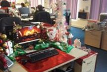 Deck the desks with boughs of holly! / Access Point's desk decoration competition