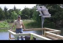 Pond Aeration / Supply oxygen to your pond and keep it from freezing over in cold weather.  No chemical additions - just clean, renewable energy.