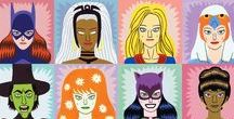 Superheroines and villainesses