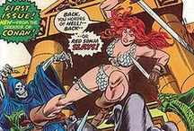 "Red Sonja / I really don't mind nudity, or the skimpy ""armors"", like Sonja's chainmaille bikini, even when they are totally ridiculous - what I mind is putting the looks before functionality. Sonja is a fictional character and the males in her universe are equally ridiculous."