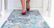 Painted Floors Ideas / Here are some ideas how you can paint your floors.  In my case I am looking for painting the floors in my art studio.