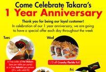 Upcoming Takara Sushi Events / Various events we plan to host at Takara Sushi