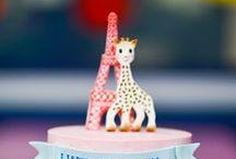 ベビーシャワー&出産祝いアイディア baby shower idea with Sophie la girafe / キリンのソフィーを使った可愛い出産祝いのアイディアたくさん。
